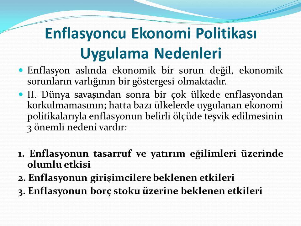 Türkiye'de Enflasyonun Reel Nedenleri A.