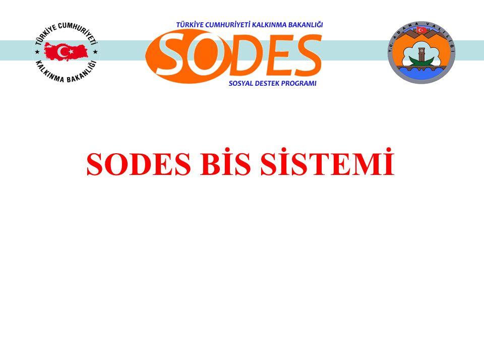 SODES Programına proje başvuruları elektronik ortamda SODES-BİS ( http://online.sodes.gov.tr) sistemi üzerinden yapılmak zorundadır.