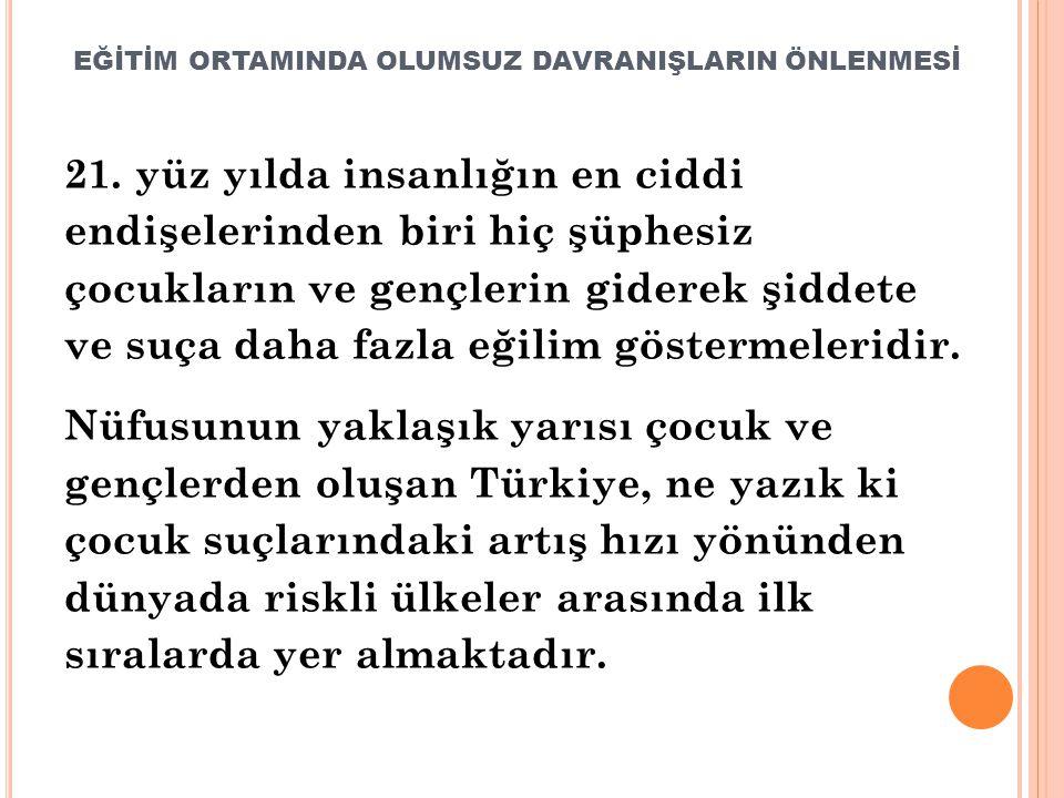 EĞİTİM ORTAMINDA OLUMSUZ DAVRANIŞLARIN ÖNLENMESİ 21.