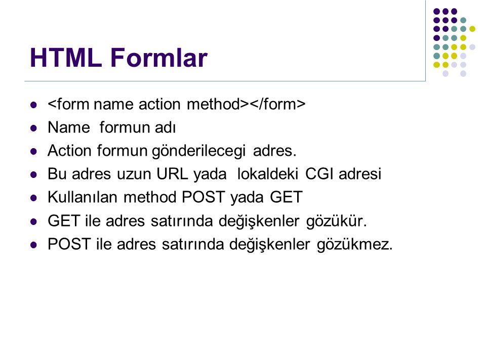Name formun adı Action formun gönderilecegi adres.