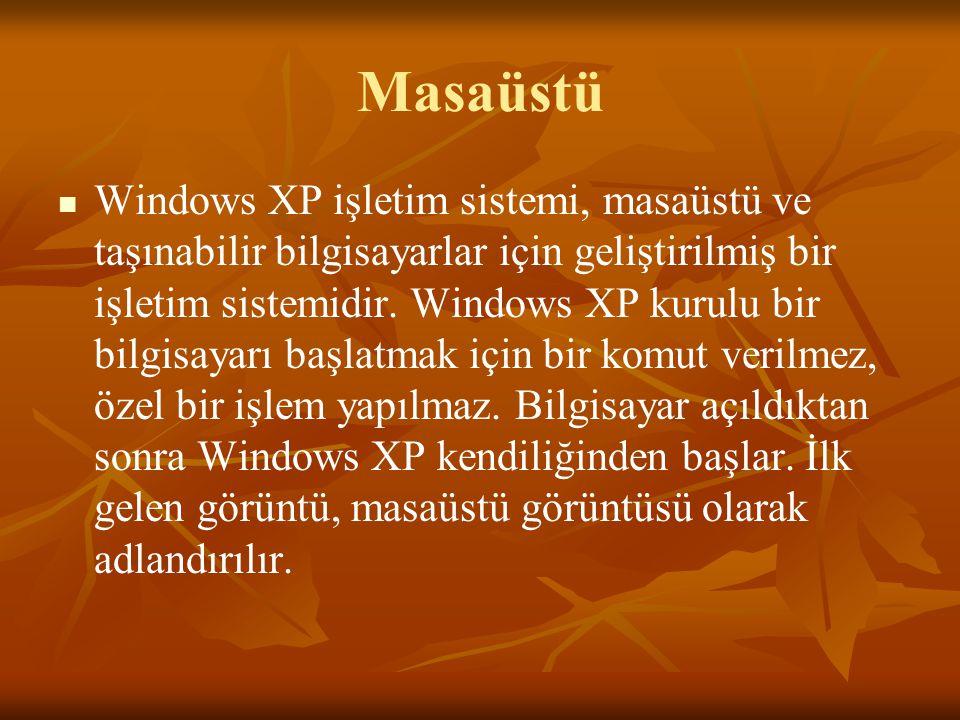 Masaüstü Windows XP işletim sistemi, masaüstü ve taşınabilir bilgisayarlar için geliştirilmiş bir işletim sistemidir.