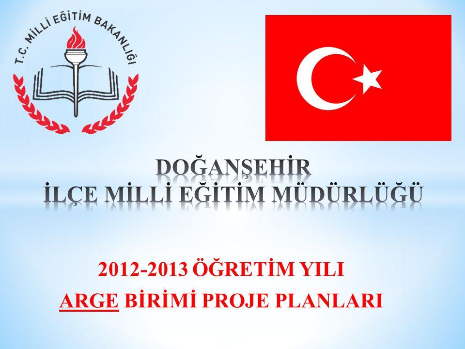 2012-2013 ÖĞRETİM YILI ARGE BİRİMİ PROJE PLANLARI