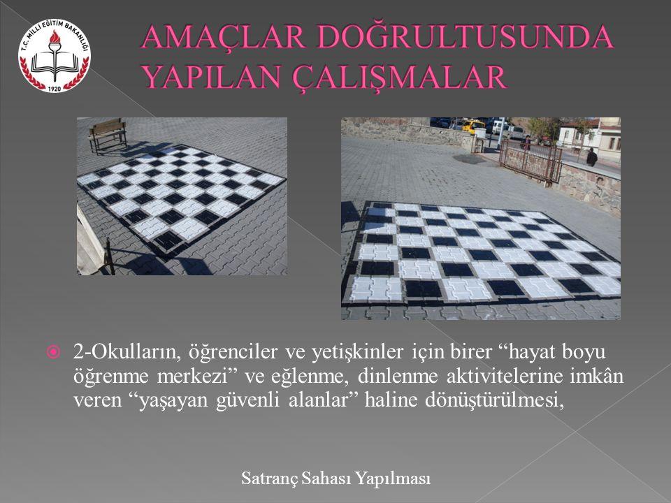 Satranç Sahası Yapılması