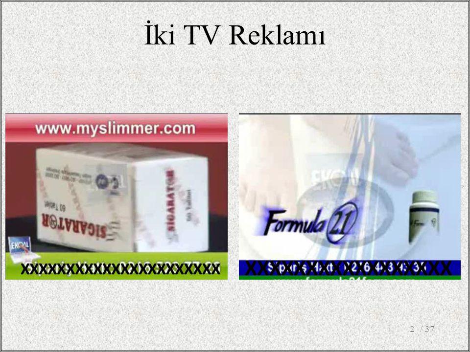 / 372 İki TV Reklamı