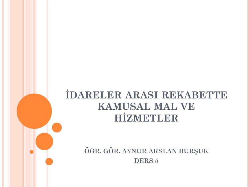 İ DARELER ARASı REKABETTE T ÜRKIYE ÖRNEĞI Türkiye açısından değerlendirildiğinde, kamusal mal üretimi açısından yerel yönetimler lehine bir değişme olduğu görülmekle birlikte, yatay eşitsizlik sorunu, kentler arası gelişmişlik farkı, bölgeler arası kamusal hizmet ihtiyacının farklılaşması ve GSYİH içerisinde yerel harcamaların hala çok cüz'i bir yer kaplaması, yerel kamusal mal ve hizmetlerin idareler arası rekabet aracı olarak kullanılmasını engellemektedir.