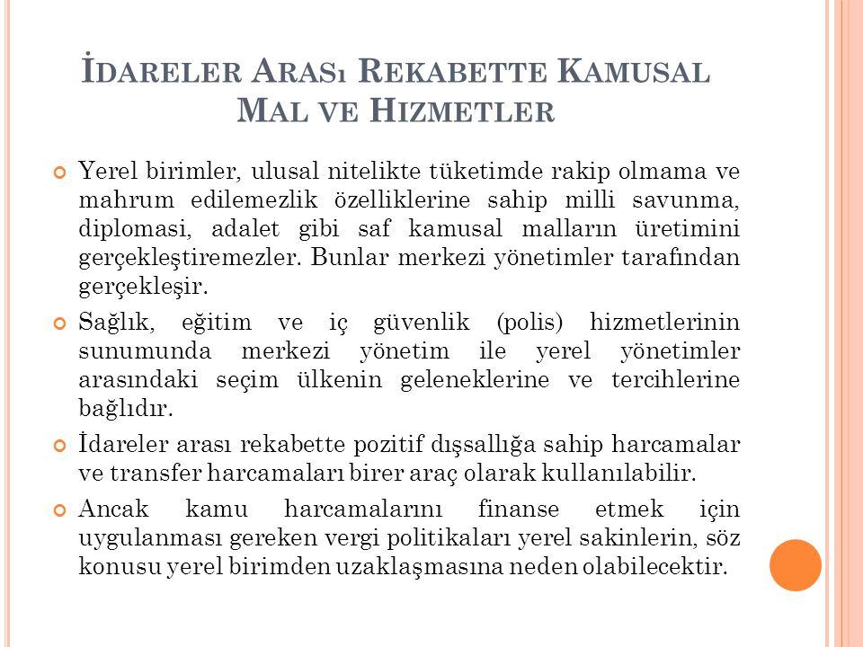 İ DARELER A RASı R EKABETI HıZLANDıRAN GLOBAL GELIŞMELER 1.