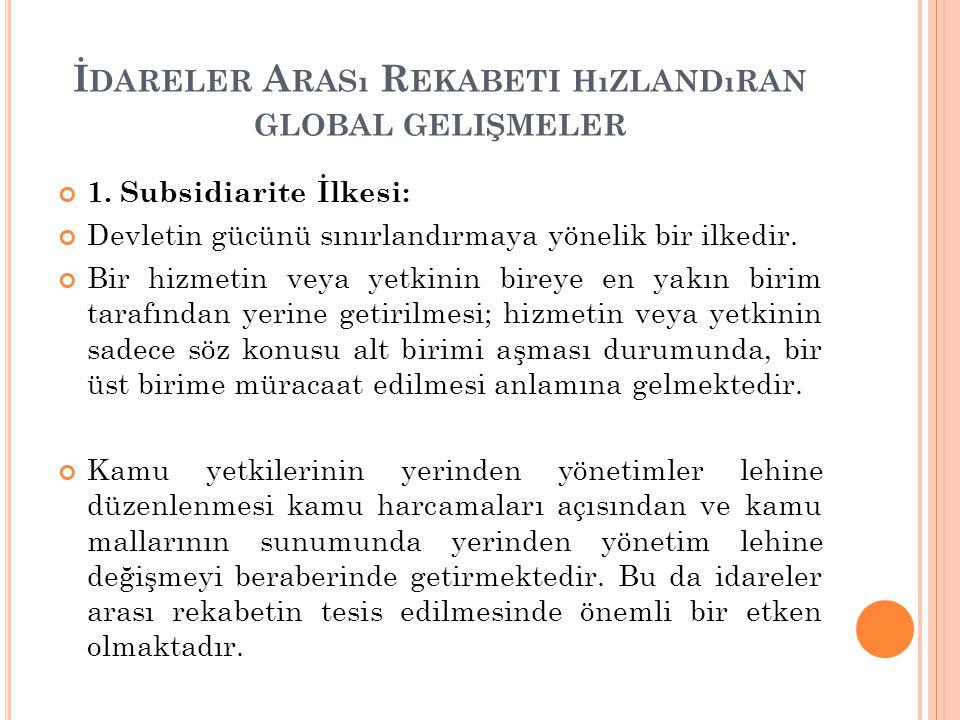 İ DARELER A RASı R EKABETI HıZLANDıRAN GLOBAL GELIŞMELER 2.