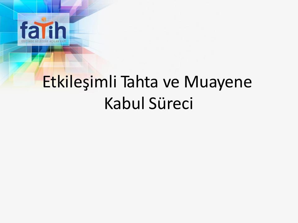 ETTS-KABUL MODÜLÜ - Kontrol Ekranı Mucbir Sebep Mücbir sebepler Muayene Kabul Komisyonu tarafından olumlu değerlendirilecektir.