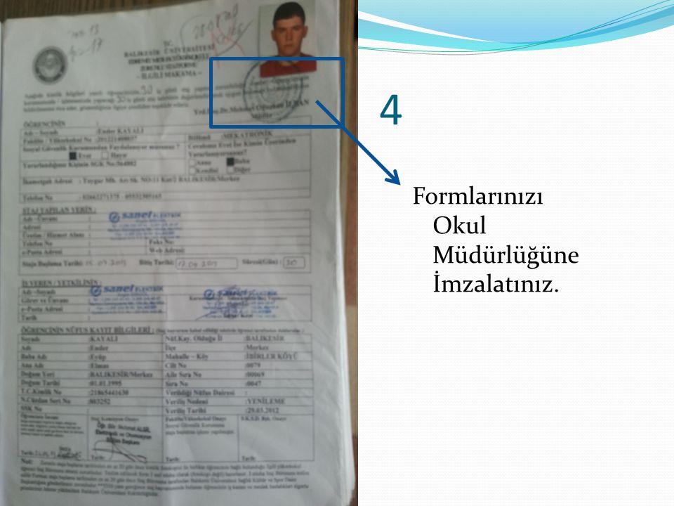 5 İşletmeye formla başvuru yap ve form üzerinde bulunan işletme onay kısmını ilgili yetkiliye imzalat