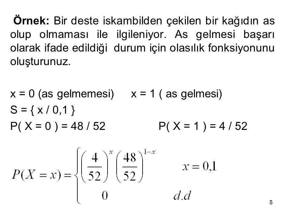 6 Binom Dağılımı Birbirinden bağımsız n adet bernoulli deneyinin bir araya gelmesi sonucunda binom deneyi gerçekleşir.