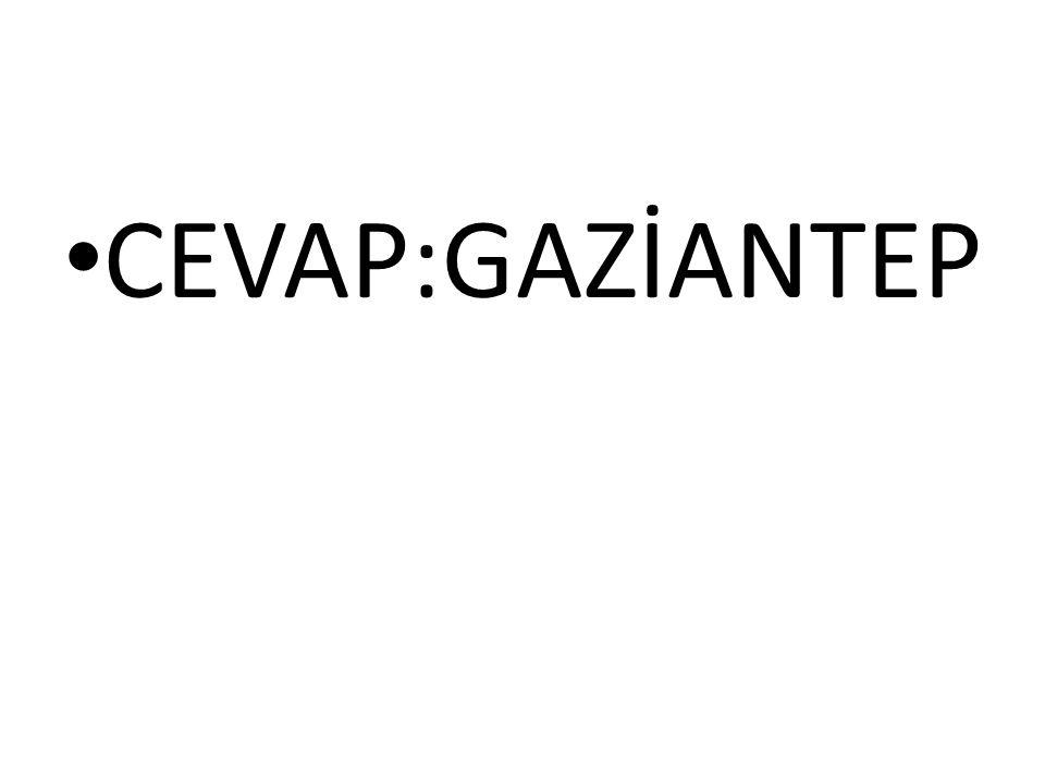 CEVAP:GAZİANTEP