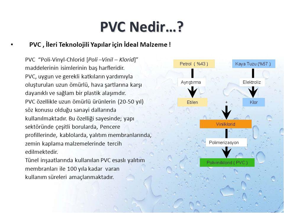 """PVC Nedir…? PVC, İleri Teknolojili Yapılar için İdeal Malzeme ! PVC """"Poli-Vinyl-Chlorid [Poli –Vinil – Klorid]"""" maddelerinin isimlerinin baş harflerid"""