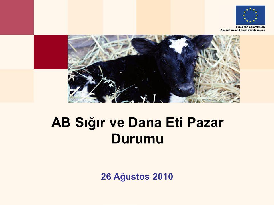 26 Ağustos 2010 AB Sığır ve Dana Eti Pazar Durumu