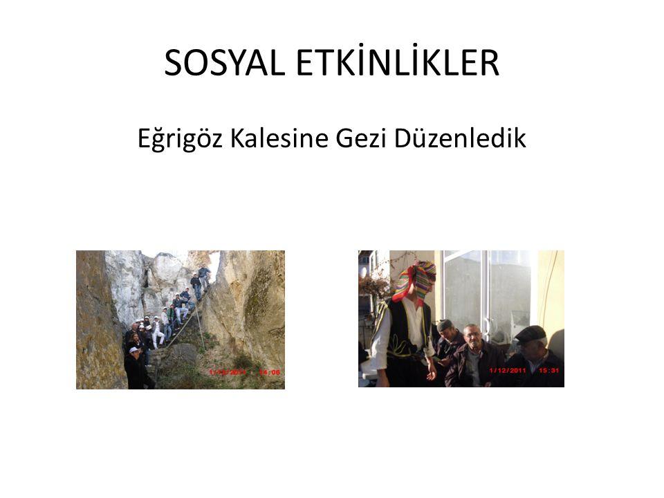 SOSYAL ETKİNLİKLER Eğrigöz Kalesine Gezi Düzenledik
