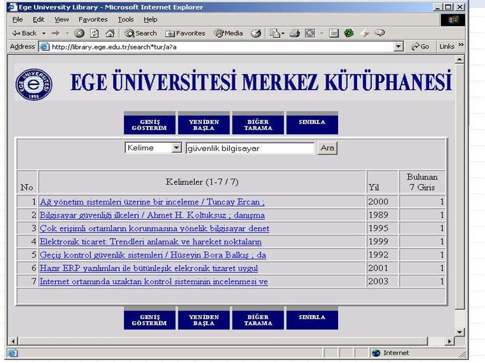 Ar. Gör Enis Karaaslan, E.Ü. Kampüs Network Yönetim Grubu43