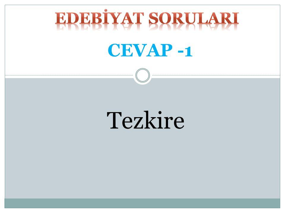 Tezkire CEVAP -1
