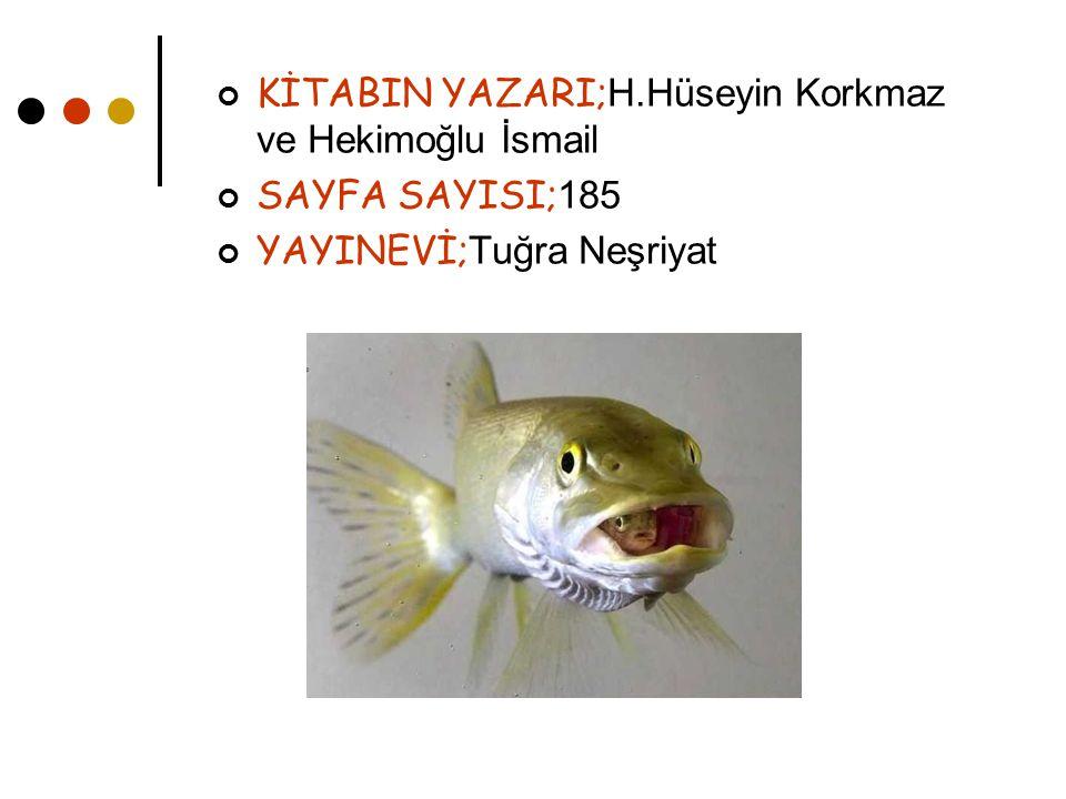 KİTABIN YAZARI; H.Hüseyin Korkmaz ve Hekimoğlu İsmail SAYFA SAYISI; 185 YAYINEVİ; Tuğra Neşriyat