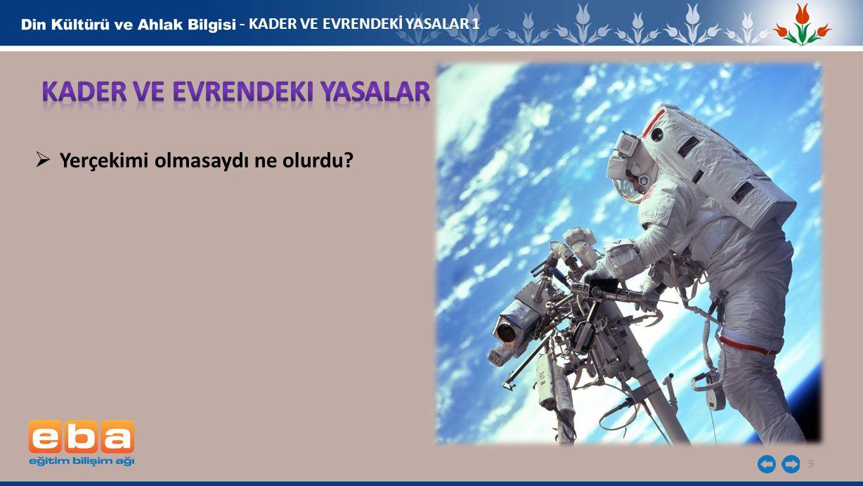 9 - KADER VE EVRENDEKİ YASALAR 1  Yerçekimi olmasaydı ne olurdu?