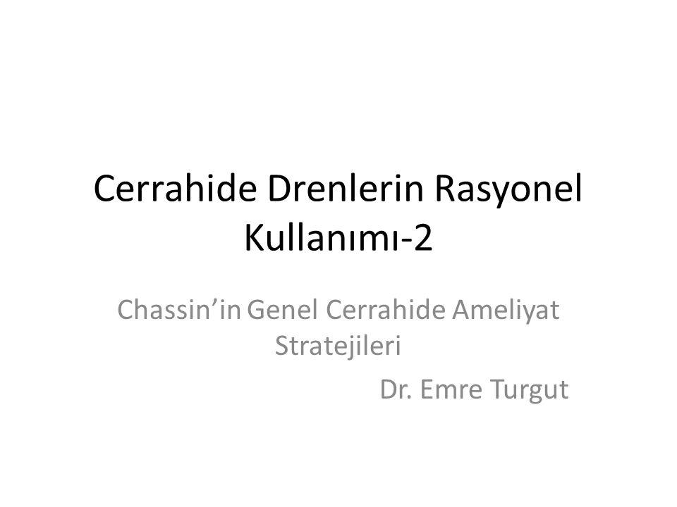 Cerrahide Drenlerin Rasyonel Kullanımı-2 Chassin'in Genel Cerrahide Ameliyat Stratejileri Dr. Emre Turgut