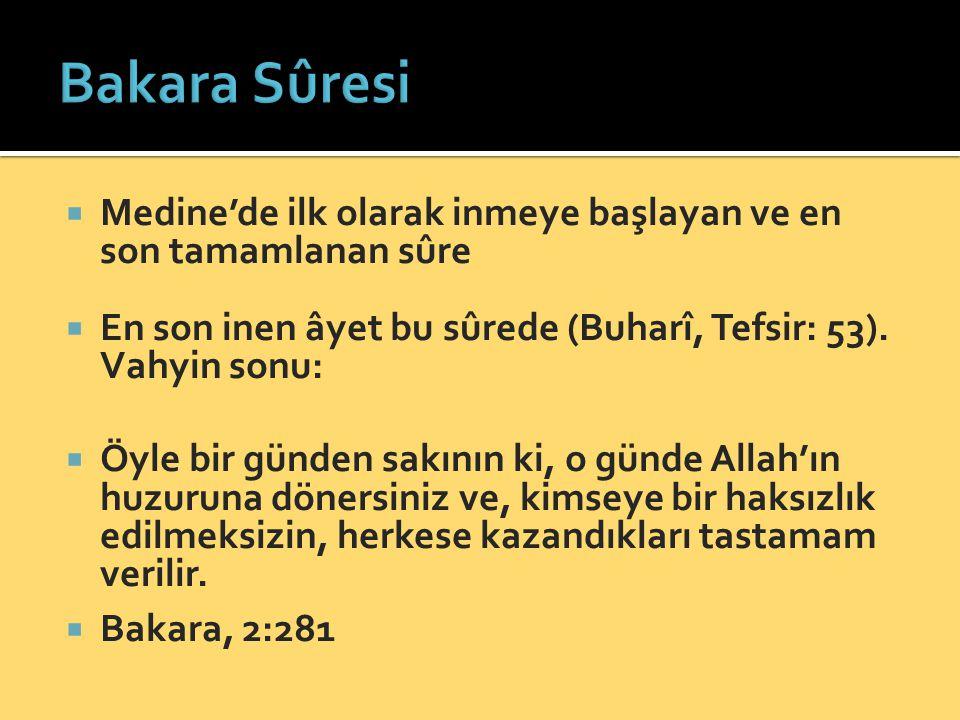  Fatiha gibi, Kur'ân'ın özeti:  Kur'ân'ın ekseri ahkâmını tafsil eder  Herşeyin bir zirvesi vardır.