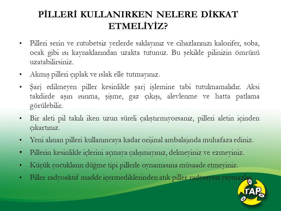 ATIK PİLLER NASIL BERTARAF EDİLMEKTEDİR.