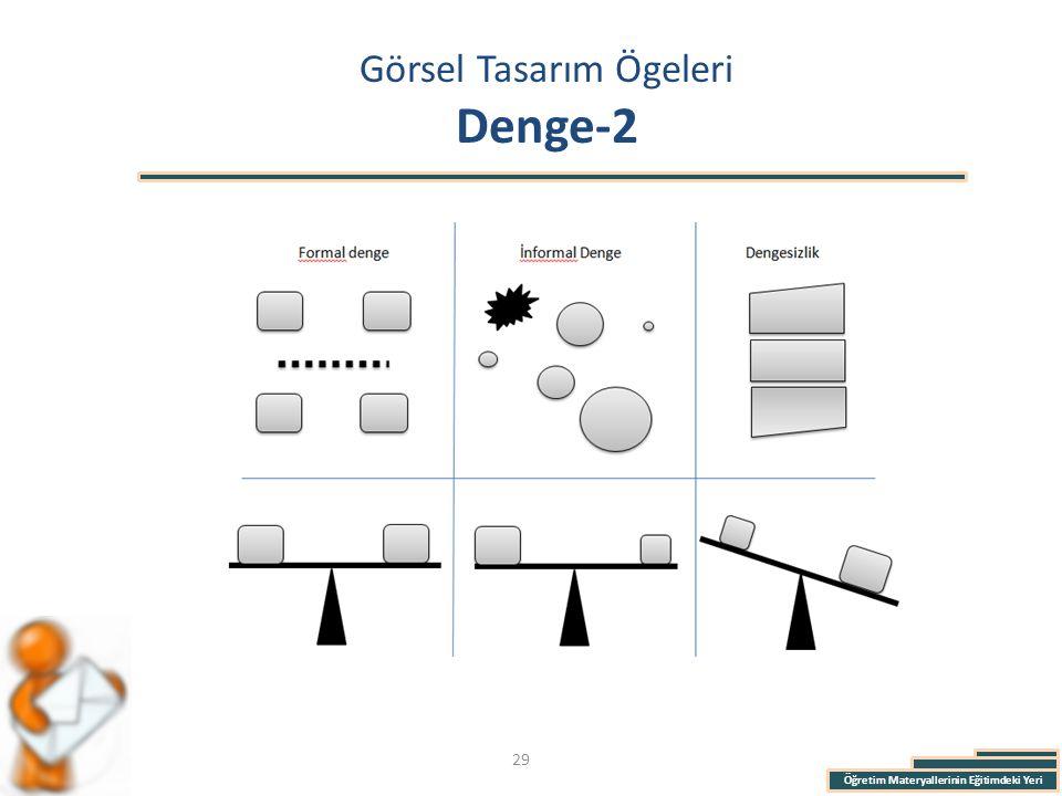 Öğretim Materyallerinin Eğitimdeki Yeri Görsel Tasarım Ögeleri Denge-2 29