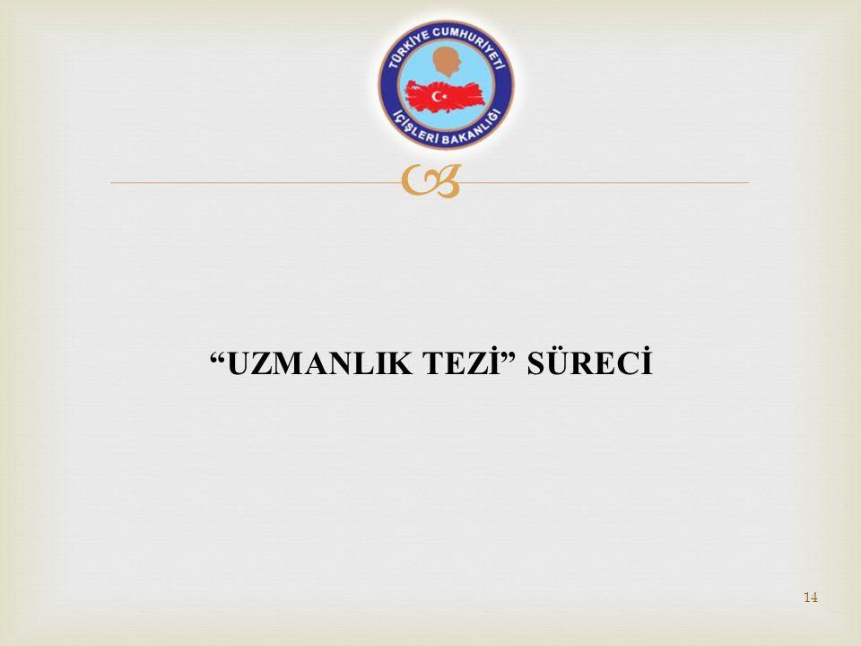 " ""UZMANLIK TEZİ"" SÜRECİ 14"