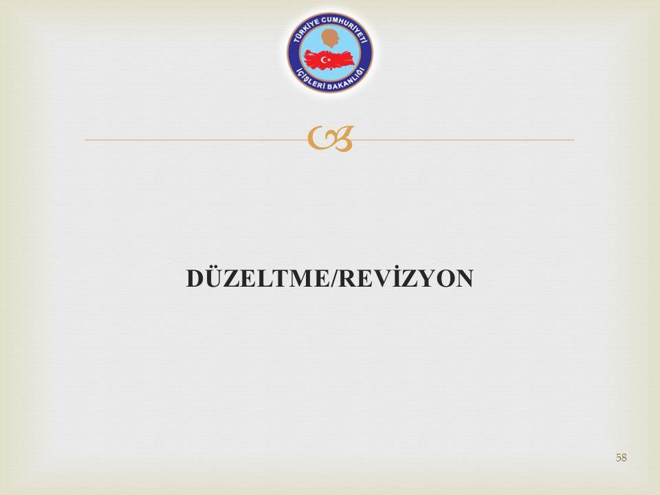  DÜZELTME/REVİZYON 58
