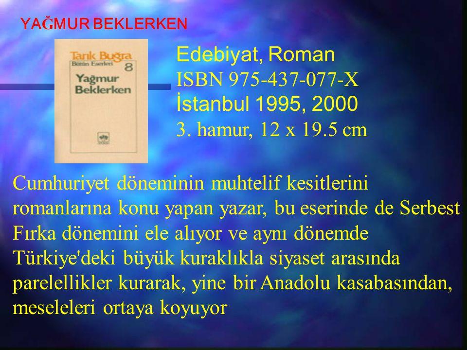 Cumhuriyet döneminin muhtelif kesitlerini romanlarına konu yapan yazar, bu eserinde de Serbest Fırka dönemini ele alıyor ve aynı dönemde Türkiye'deki