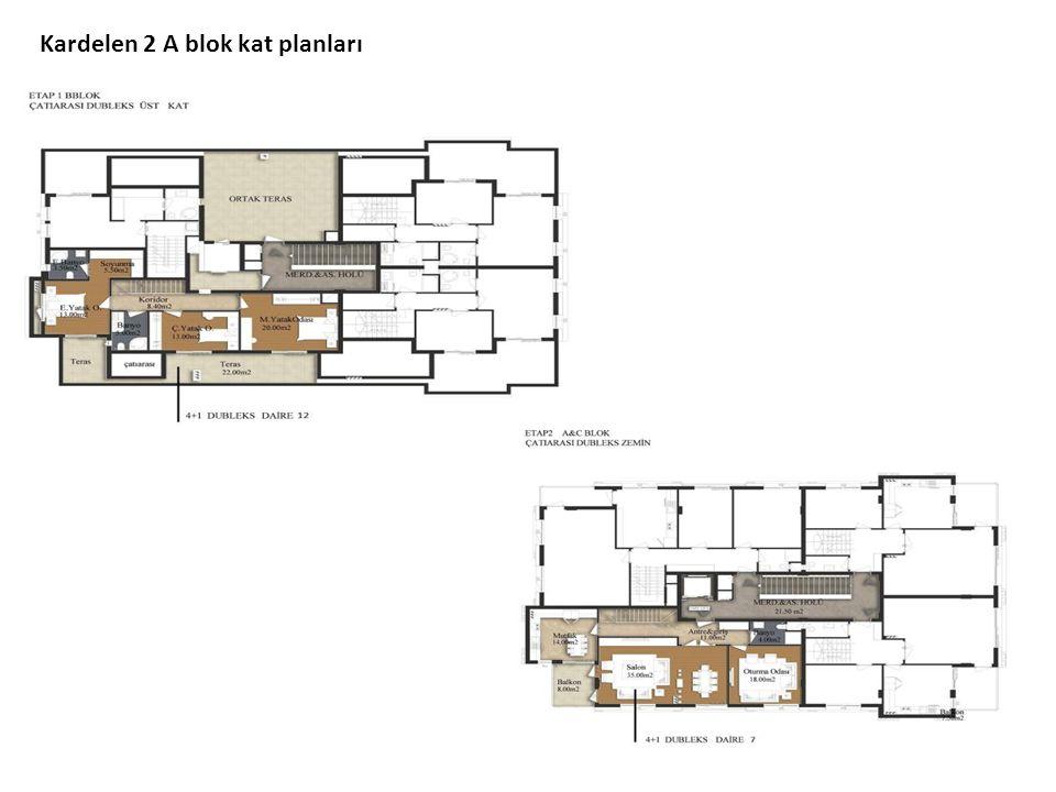 Kardelen 2 A blok kat planları