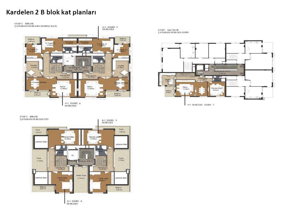 Kardelen 2 B blok kat planları