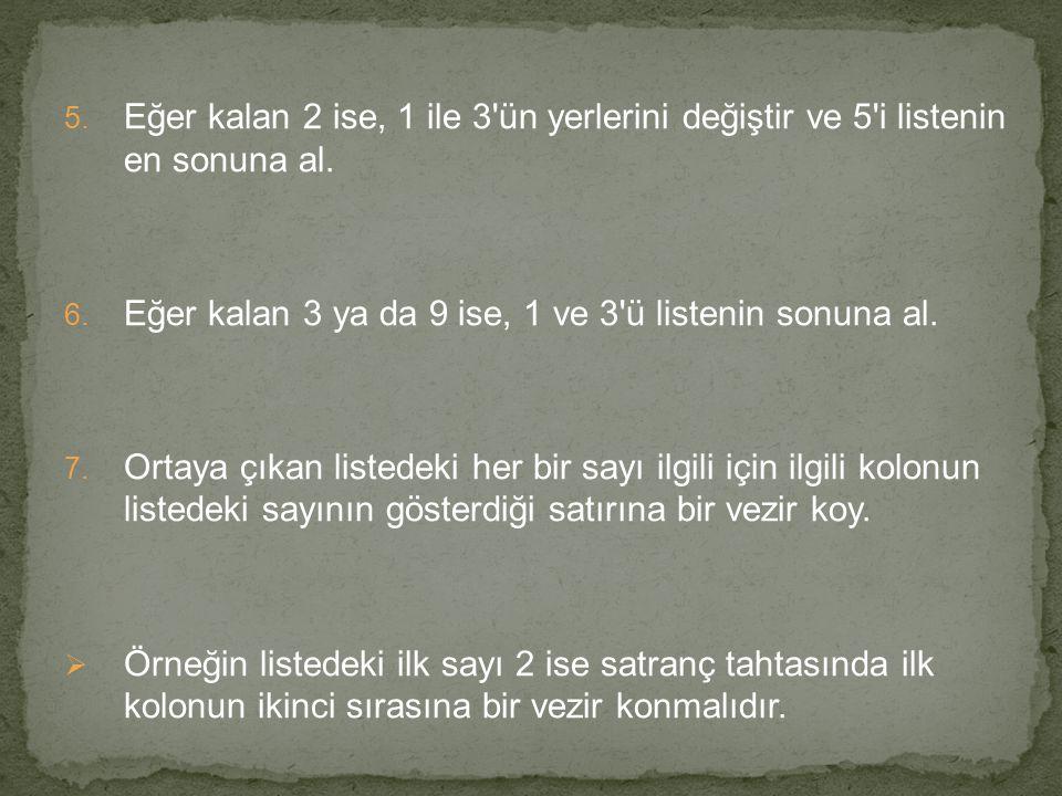  Sekiz vezir bulmacasının 92 ayrı çözümü vardır.