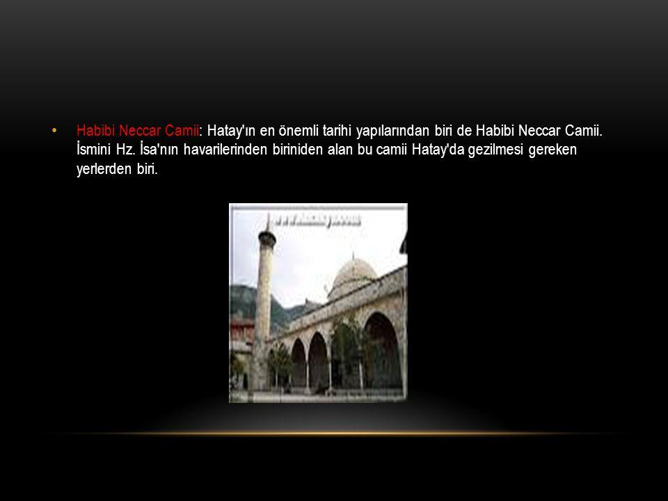 Habibi Neccar Camii: Hatay'ın en önemli tarihi yapılarından biri de Habibi Neccar Camii. İsmini Hz. İsa'nın havarilerinden biriniden alan bu camii Hat