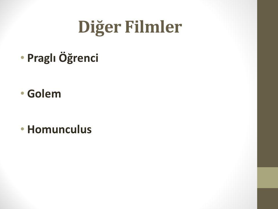 Diğer Filmler Praglı Öğrenci Golem Homunculus