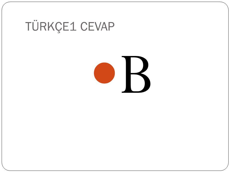 TÜRKÇE1 CEVAP B