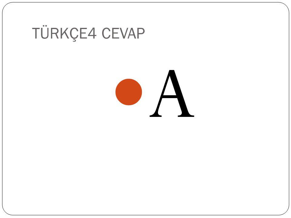 TÜRKÇE4 CEVAP A