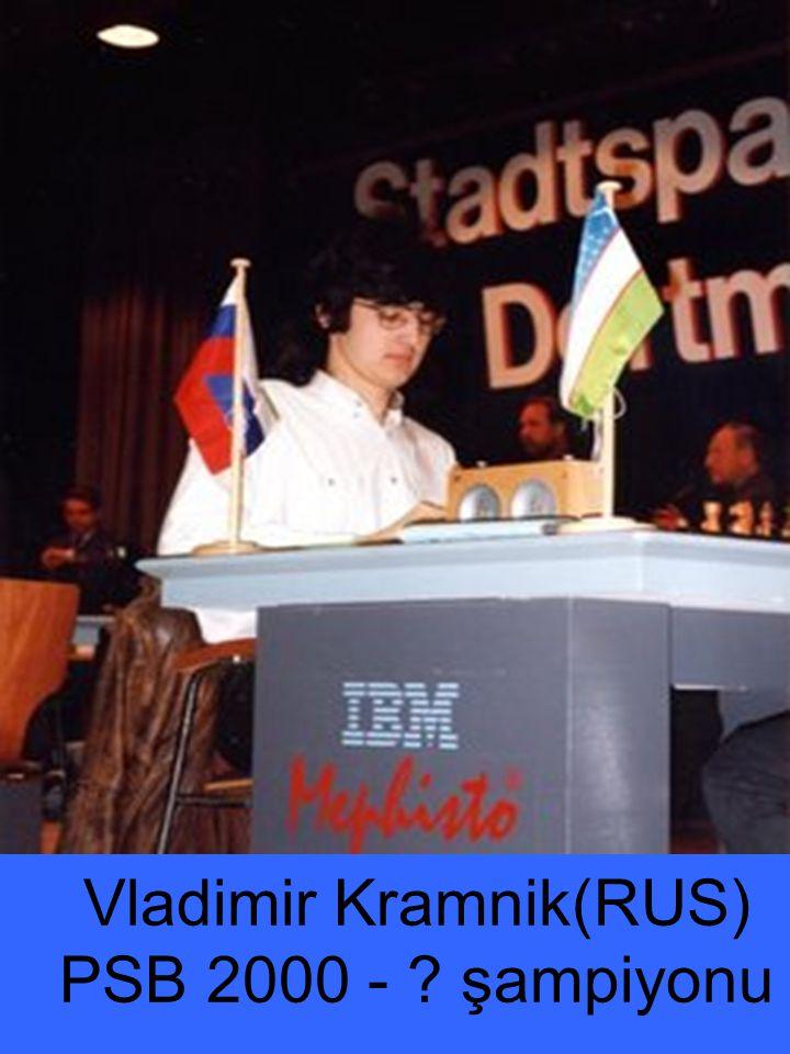 Vladimir Kramnik(RUS) PSB 2000 - ? şampiyonu