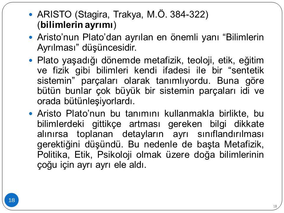 18 ARISTO (Stagira, Trakya, M.Ö.
