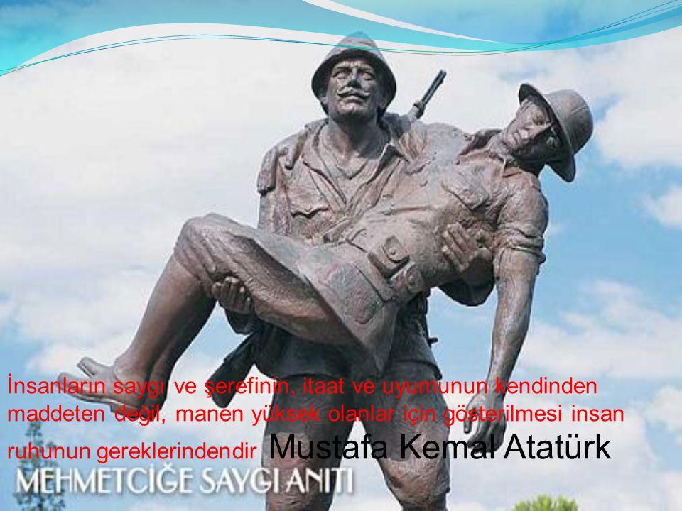 İnsanların saygı ve şerefinin, itaat ve uyumunun kendinden maddeten değil, manen yüksek olanlar için gösterilmesi insan ruhunun gereklerindendir Mustafa Kemal Atatürk