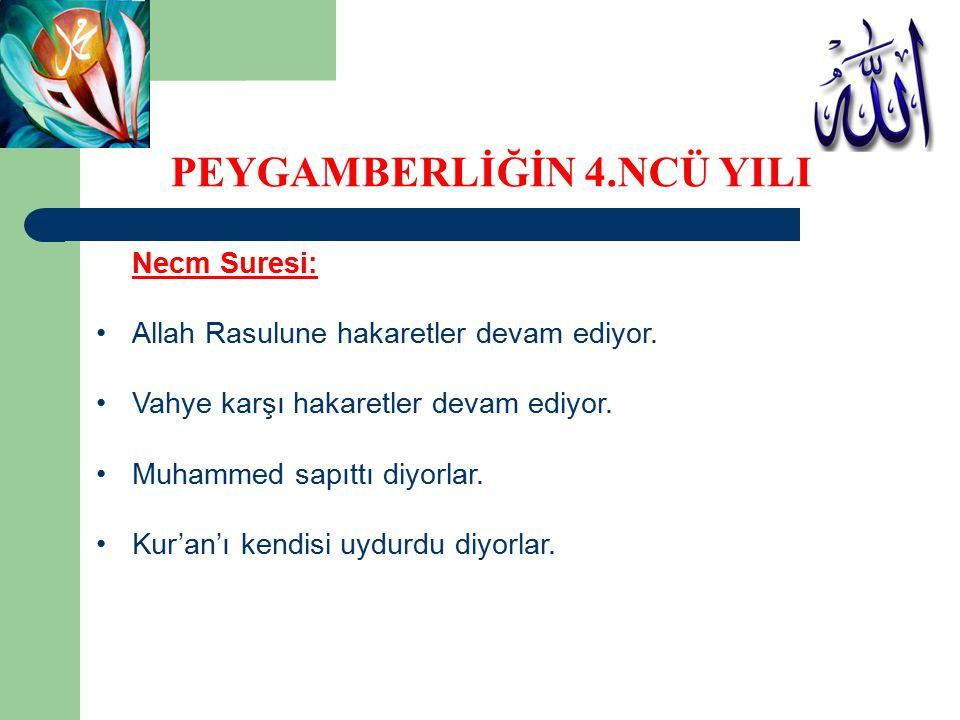 Necm Suresi: Allah Rasulune hakaretler devam ediyor. Vahye karşı hakaretler devam ediyor. Muhammed sapıttı diyorlar. Kur'an'ı kendisi uydurdu diyorlar