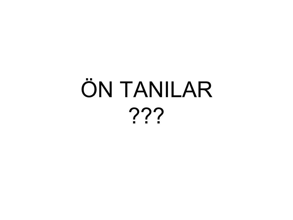 ÖN TANILAR ???