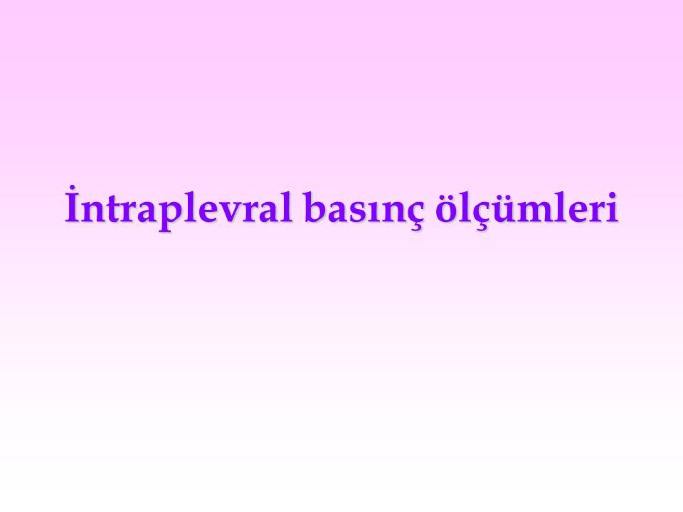 İntraplevral basınç ölçümleri