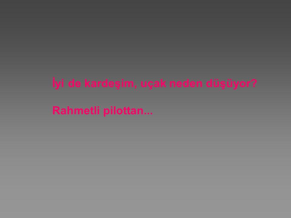 İyi de kardeşim, uçak neden düşüyor Rahmetli pilottan...