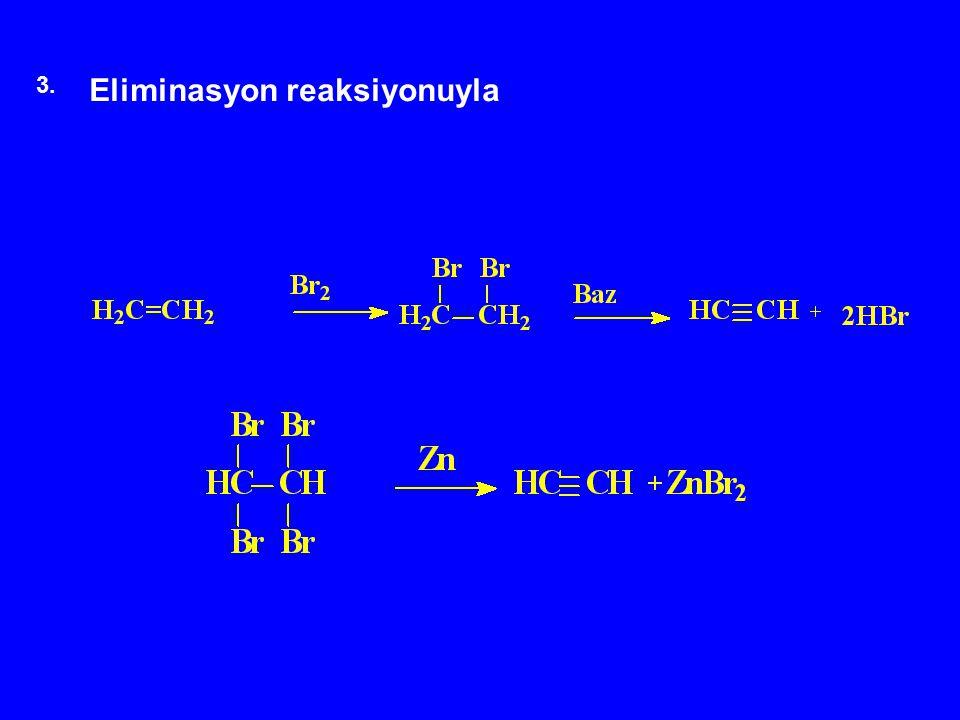 3. Eliminasyon reaksiyonuyla