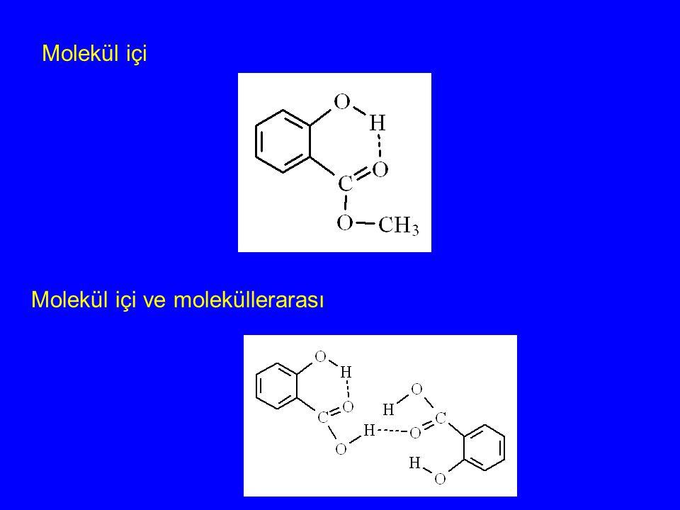 Molekül içi ve moleküllerarası Molekül içi