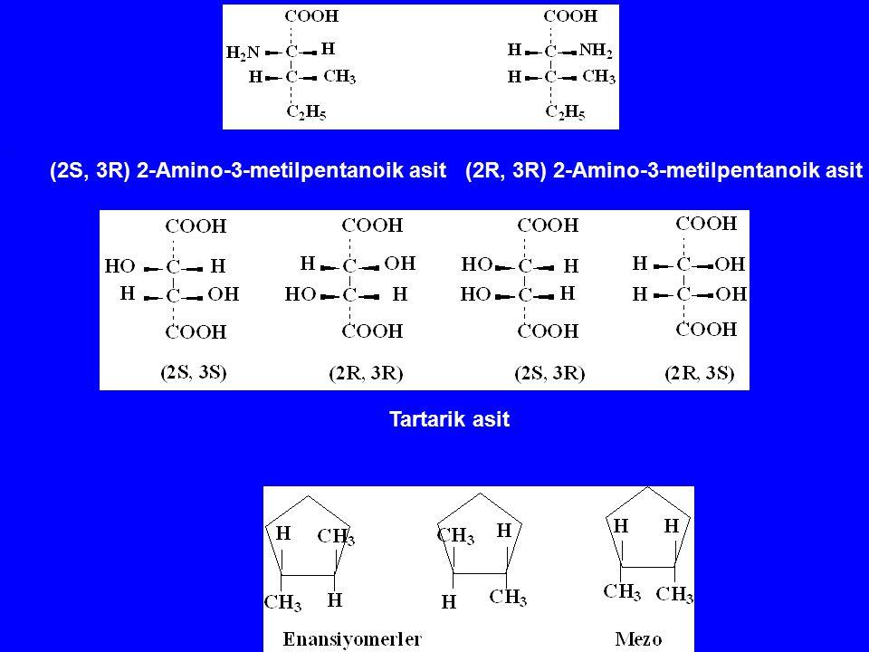 . (2S, 3R) 2-Amino-3-metilpentanoik asit (2R, 3R) 2-Amino-3-metilpentanoik asit Tartarik asit