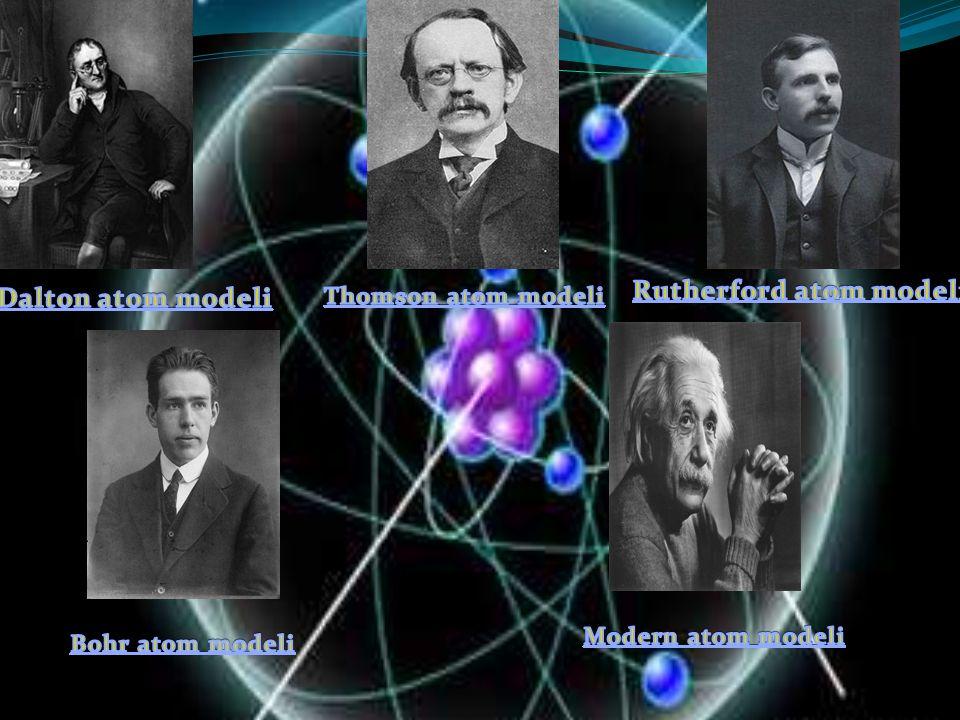 Dalton atom modeli Daltona göre; Madde, atom denilen içleri dolu bölünemeyen taneciklerden oluşmuştur.