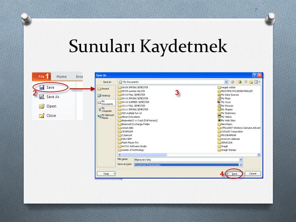 Hazır Slayt Temalarını Slaytlarınıza Uygulamak O Eğer tek bir slayta uygulanacaksa, önce teması değiştirilecek olan slayt açılıp hazır temanın üzerinde sağ tuşa basıp Apply To Selected Slides seçilmelidir.