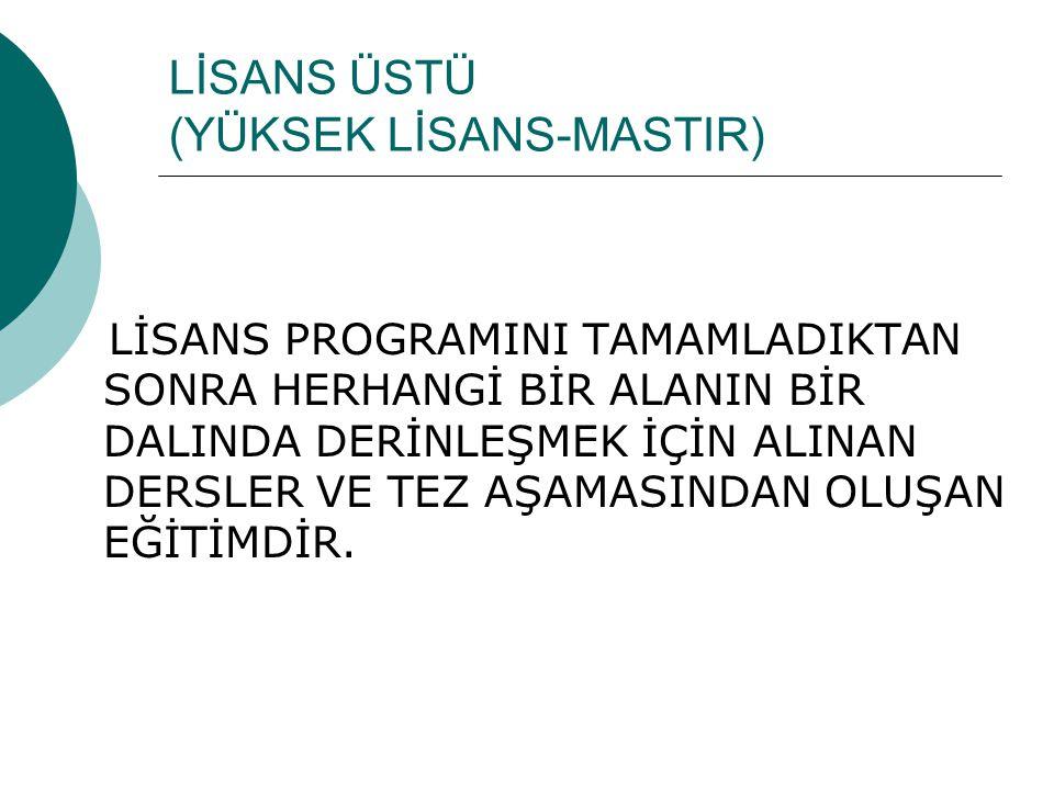 LYS  LİSANS PROGRAMLARINA GİRİŞ SINAVI