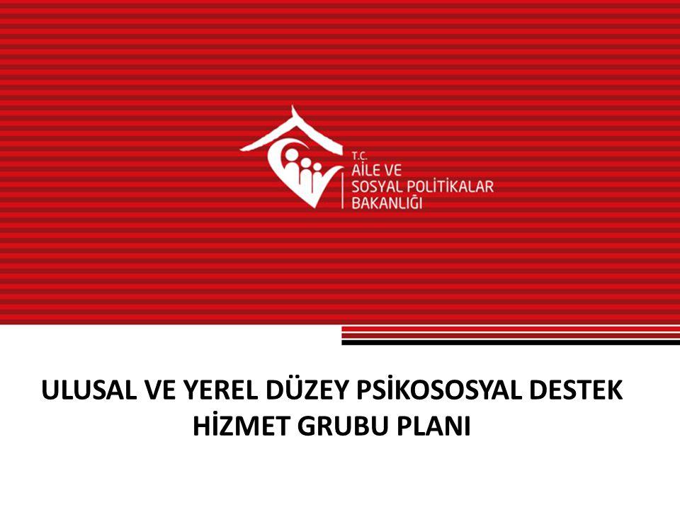 ULUSAL VE YEREL DÜZEY PSİKOSOSYAL DESTEK HİZMET GRUBU PLANI